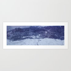 lonely mountain road Art Print
