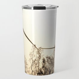 Sunrise with Wind Turbines  Travel Mug