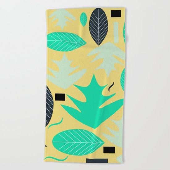 Leaf shapes Beach Towel