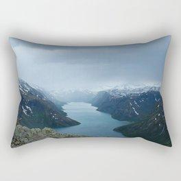Down the Fjord Rectangular Pillow