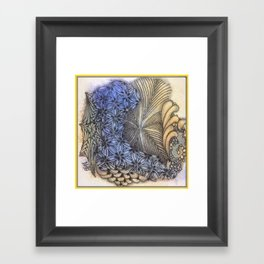 Seafoam Tangle Framed Art Print