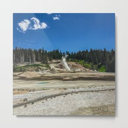 Black Growler Steam Vent, Norris Geyser Basin, Yellowstone Metal Print