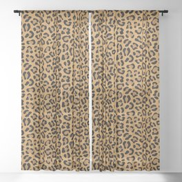 Leopard Prints Sheer Curtain