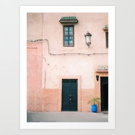 "Travel photography print ""Pastel Marrakech"" photo art made in Morocco. Warm colored. Art Print Art Print"