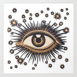 Vintage Eye Art Print