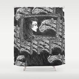 Her Ferocity  Shower Curtain