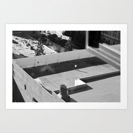 From the roof top Art Print