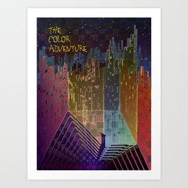 The Color Adventure in The Mistic Areas Art Print