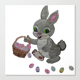 The Clumsy Easter Bunny Canvas Print