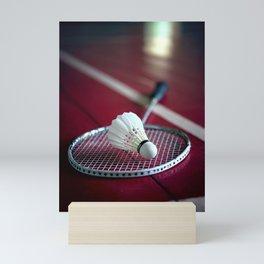 Lets' play badminton! Mini Art Print
