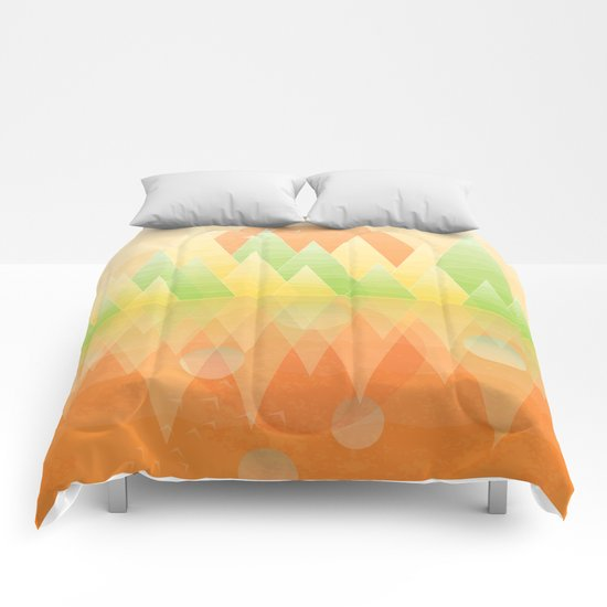 Summer Geometric Mountain Comforters