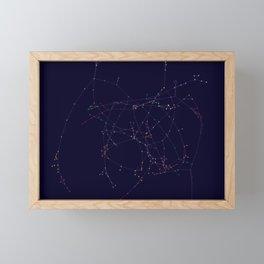 Association Network of Woman Framed Mini Art Print