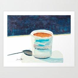 El Café de Andalucía Art Print