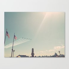 Blue Angel Jets Flying Color Photo Canvas Print
