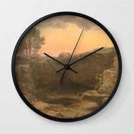 Jules Laurens - Landscape, Memory from Asia Minor Wall Clock