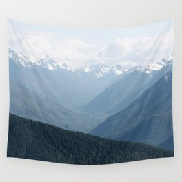 Olympic Mountains Wall Tapestry