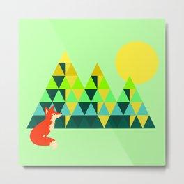 Mountain Fox Metal Print