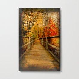 Bridge to Fall Metal Print