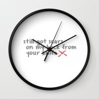 1989 Wall Clocks featuring Bad blood TS 1989 by swiftstore