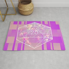 """May all your rolls be crits"" floral d20 pattern Rug"