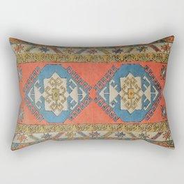 Traditional Aztec inspired Rug Rectangular Pillow