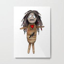 """VoodoDoll """"She"""" Metal Print"""