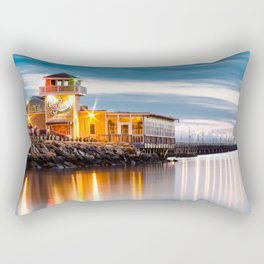 Crab Shack on the James just after sunset. Rectangular Pillow