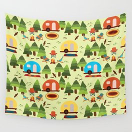 Caravan Campground Vacation Wall Tapestry