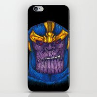 thanos iPhone & iPod Skins featuring Thanos by AgrovatedArt