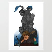 tyrion Art Prints featuring Longest Shadows by Awkwardly Social