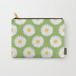 Spring Daisies_Greenery Carry-All Pouch