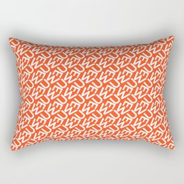 Typography Pattern / Uwe Rectangular Pillow