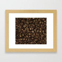 Steampunk cogwheels Framed Art Print