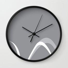 GREY CURVES Wall Clock