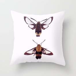 snowberry clearwings Throw Pillow