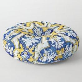 Portuguese blue tile Floor Pillow
