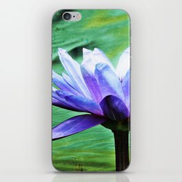 Purple Water Lily iPhone Skin