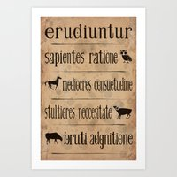 Cicero - The wise, the average, the stupid, and the brute Art Print