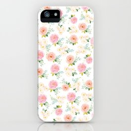 Sweet Pink Blooms (Floral 02 - Small) iPhone Case