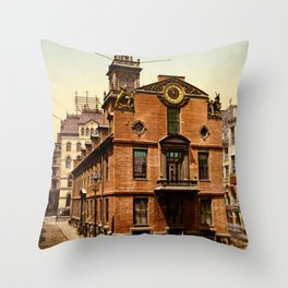 Old State House, Boston, Massachusetts, 1900 Throw Pillow