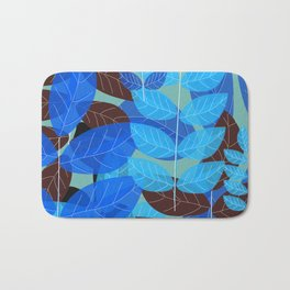 Exotic Blue Bath Mat