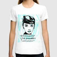 audrey T-shirts featuring Audrey by SwanniePhotoArt