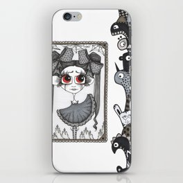 Little monsters and a girl iPhone Skin