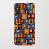 picard iPhone & iPod Cases featuring STARFLEET by badOdds