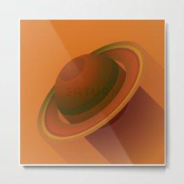 Flat Planet - #2 Saturn Metal Print