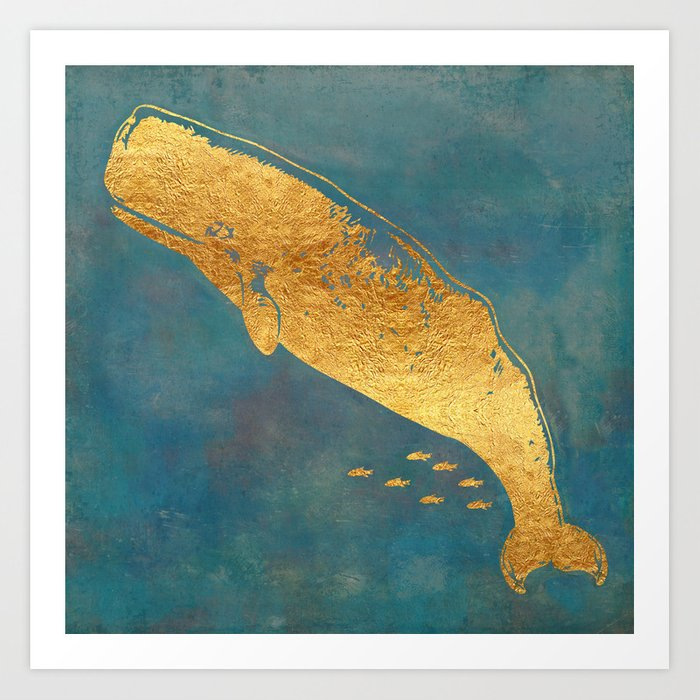 Deep Sea Life Whale Art Print