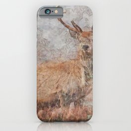 Majestic Stag Watercolor iPhone Case