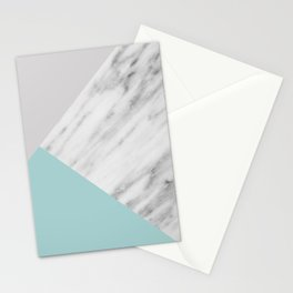 Ice Color Marble Collage Stationery Cards