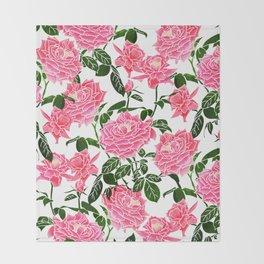 Rose || Throw Blanket