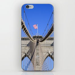 American Flag at the Brooklyn Bridge iPhone Skin